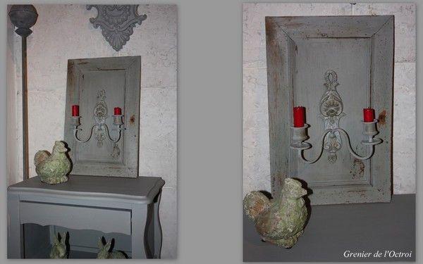Petit relooking d 39 une vieille porte et d 39 une applique for Petit meuble une porte
